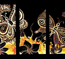 Doodle- butterfly tryptic by KalonaCreations