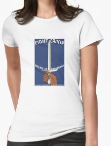 Fight Cancer Delay Is Dangerous -- WPA Print Womens Fitted T-Shirt