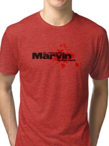 Ah man, I shot marvin in the face Tri-blend T-Shirt