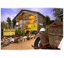 The general store in Hackberry, Route 66 Poster