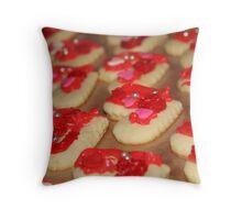 Valentine cookies Throw Pillow