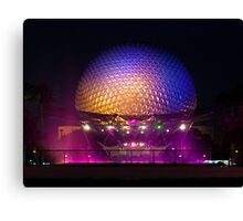 Epcot - Spaceship Earth at night Canvas Print