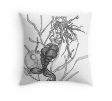 Mermaid in Distress  Throw Pillow