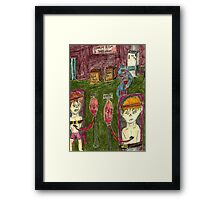 Inside of blood toxic factory Framed Print