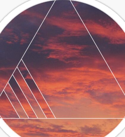 Geometric Sunset Sticker