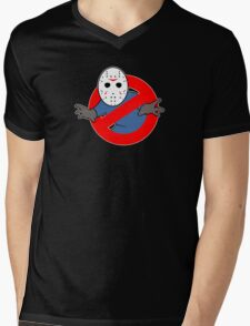 Ghostbusters (Jason Voorhees) Mens V-Neck T-Shirt