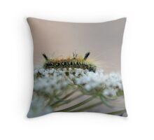 Tiny Caterpillar Throw Pillow