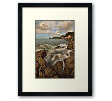 Waimama Bay Rocks Framed Print