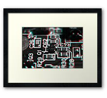 Anaglyph Circuitry 1 Framed Print