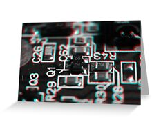 Anaglyph Circuitry 1 Greeting Card