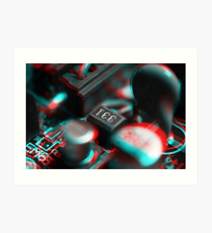 Anaglyph Circuitry 2 Art Print