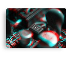 Anaglyph Circuitry 2 Canvas Print