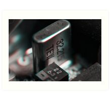 Anaglyph Circuitry 3 Art Print