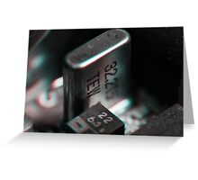 Anaglyph Circuitry 3 Greeting Card
