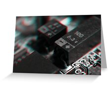 Anaglyph Circuitry 4 Greeting Card