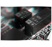 Anaglyph Circuitry 4 Poster