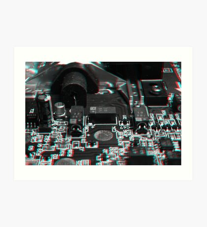 Anaglyph Circuitry 5 Art Print