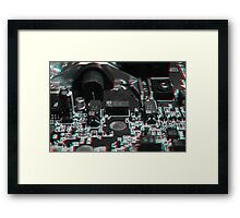 Anaglyph Circuitry 5 Framed Print