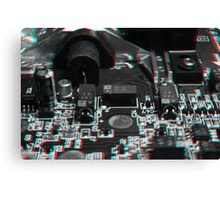 Anaglyph Circuitry 5 Canvas Print