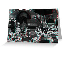 Anaglyph Circuitry 5 Greeting Card