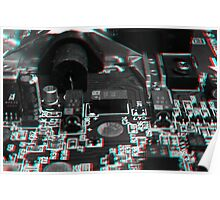 Anaglyph Circuitry 5 Poster