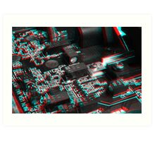Anaglyph Circuitry 6 Art Print