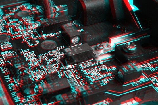 Anaglyph Circuitry 6 by Daniel Owens