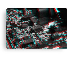 Anaglyph Circuitry 6 Canvas Print