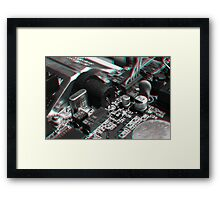 Anaglyph Circuitry 7 Framed Print