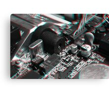 Anaglyph Circuitry 7 Canvas Print