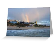 Beach Rainbow Three Greeting Card