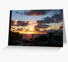 North Cottesloe Sunset Three Greeting Card