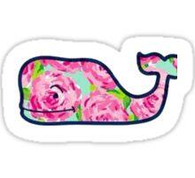 Vineyard Vine Floral Whale Sticker
