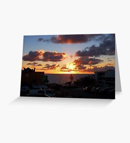 North Cottesloe Sunset Two Greeting Card