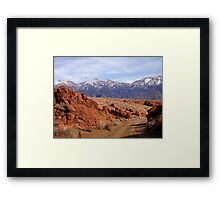 Red,White And Blue Of Rural America Framed Print