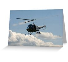 helicopter fly by Greeting Card