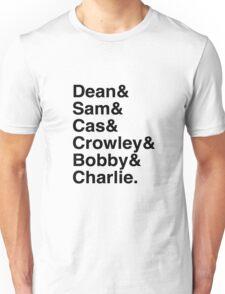 Supernatural Character List Unisex T-Shirt