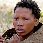 Young San(Bushman) Woman by Graeme  Hyde