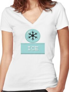 Pokemon Types-Ice Women's Fitted V-Neck T-Shirt