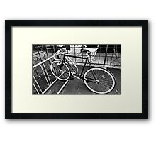 Black and White Fixie Framed Print