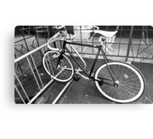 Black and White Fixie Metal Print