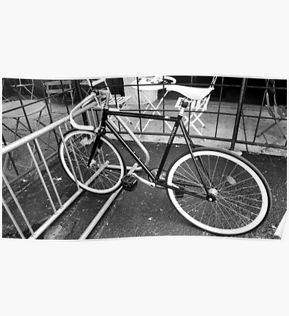 Black and White Fixie Poster