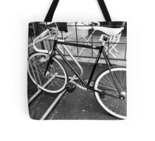 Black and White Fixie Tote Bag