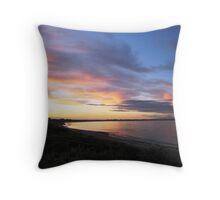 Sunset on Block Island Throw Pillow