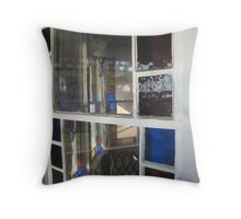 Reflection in stained glass Throw Pillow