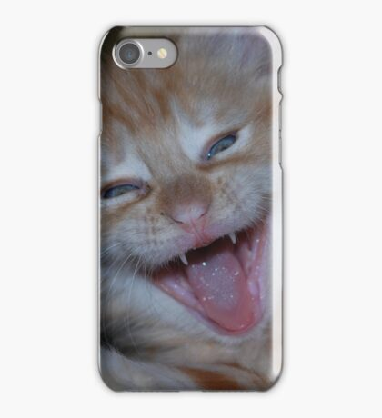 Laughing Ginger Cat iPhone Case/Skin