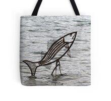 Fish sculpture, Block Island Tote Bag