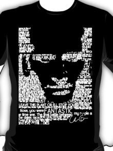 The Ninth Doctor Word Art T-Shirt