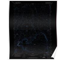 USGS Topo Map Oregon Fish Fin Rim 279868 1971 24000 Inverted Poster