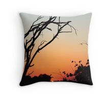 Sunset in Zambia. Throw Pillow